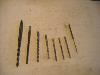 8 Taper Pin Reamers, U.S., HSS, Ranging in Diameters. From .089 - .255 Dia