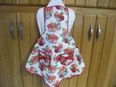 1950's Vintage Inspired Designer Apron. Child's retro Jingle Bells Jessie Steele
