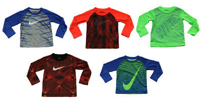 Nike Boys Long Sleeve T-Shirt Polyester - Size 2T 3T 4 - New W/ Tags