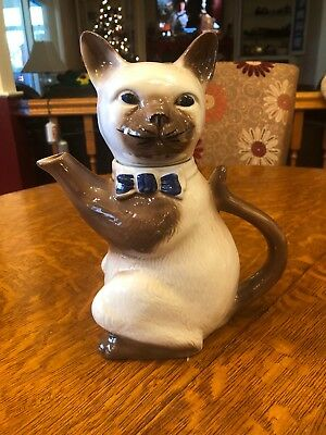 Vintage Cat Teapot by Tony Wood Studio, England