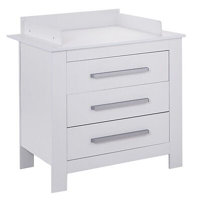 Changing Table Dresser Baby Nursery Furniture Diaper Station 3 Drawer White US