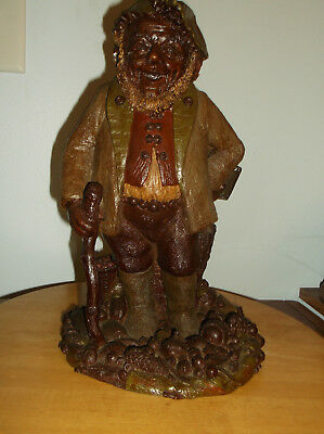 "TOM CLARK GNOME - HYKE - Has 5/8"" WALKING STICK ABOVE HIS HAND"