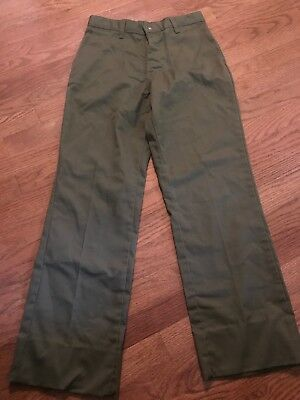 "Boy Scouts Of America Pants. Size 14. Waist 27"". Inseam. 27"". Green"