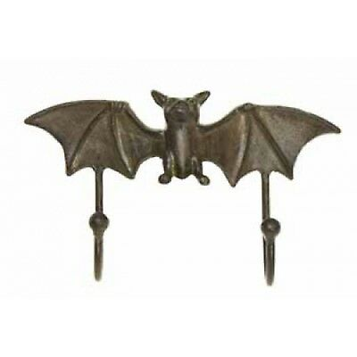New Flying Bat Double Hook Cast Iron Wall Decor H417 New Mint With Tag