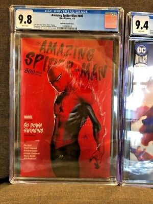 Amazing Spider-man 800 Dellotto Variant Edition CGC 9.8 NM/MINT Red Goblin KEY !