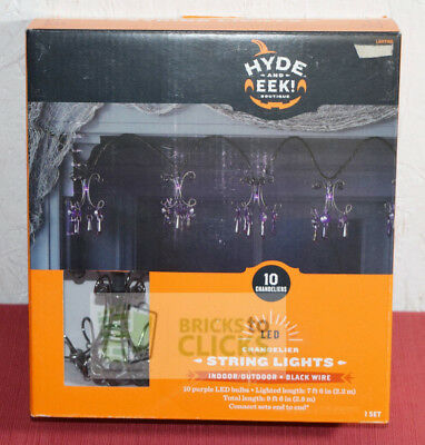 Hyde and EEK! Boutique LED String Purple Lights Chandelier Black Wire Halloween