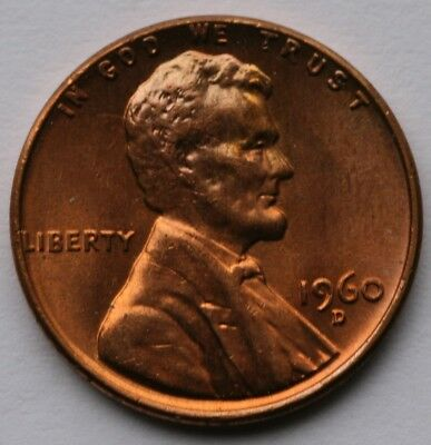 1960 D Lincoln Cent BU US Coin Large Date