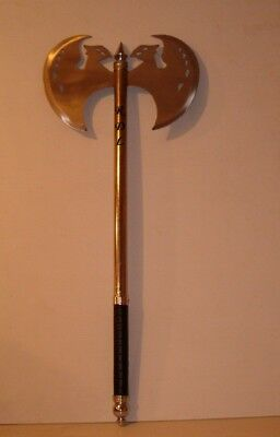 "Personalized 29.5""  Medieval Metal Handle Axe With Sm. Sword,and Your 3 Initials"