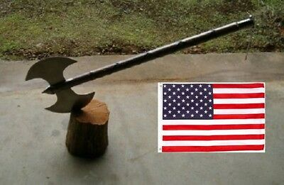 "30"" Medieval Double Edge Battle / Executioners Axe +Free Usa Flag"