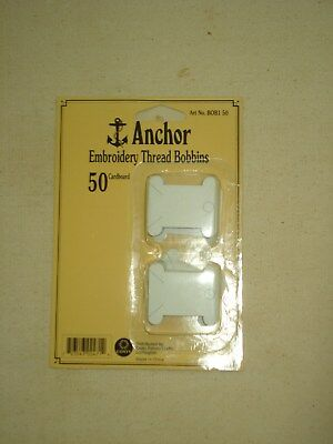 50 Anchor Emroidery Thread card Bobbins in sealed pack