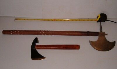 "Large 32""  Wooden Handle Studded Battle Axe,free Bullseye Throwing Axe /shipping"