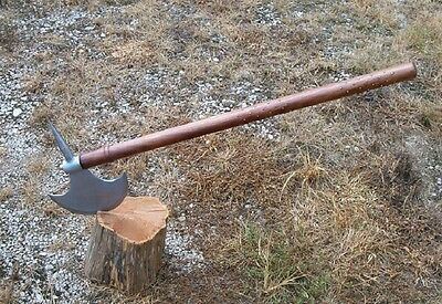 "Large 32""  Wooden Handle Studded Battle Axe, Viking Medieval Axe , Free Shipping"
