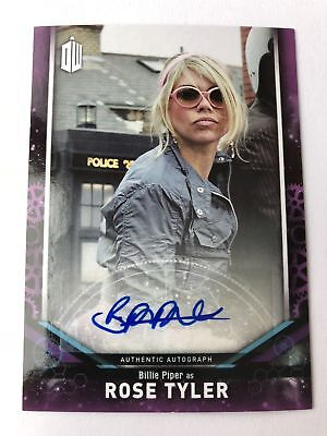 """2018 Topps """"Doctor Who"""" Signature Series Billie Piper Rose Tyler AUTO"""