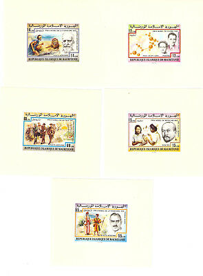 Mauritania 1977 Nobel prize winners imperforated Special Blocks MNH