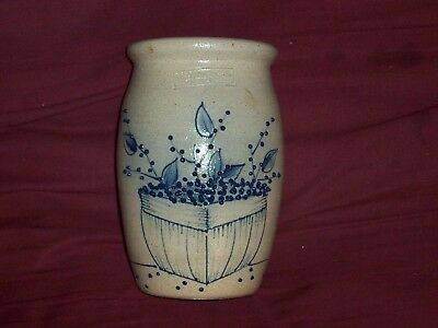 Vintage Small Undated Salmon Falls Dover N.H. Blueberry Basket Stoneware Crock