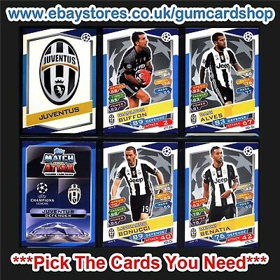Match Attax 2016/2017 Champions League (Juventus) *Please Choose Cards*