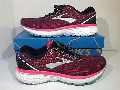 Brooks Women's Size 10 Ghost 11 Black Pink Athletic Running Shoes ZX-1482