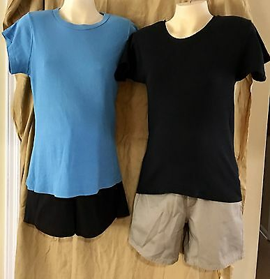 MATERNITY WEAR SHORTS ~~SET of TWO (2) ~~ Black & Beige. NEW w/ Tags