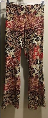 Maternity floral print Pant ~Small ~ Beiges/reds/black ~ NWT