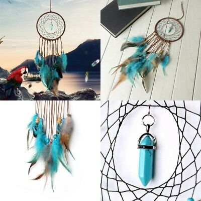 Dream Catcher Large Blue Woven Best Colorful Magical Nursery Authentic Hanging