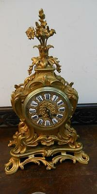 ornate french gilded bronze striking mantel clock by jappy freres