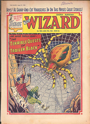 THE WIZARD No.1802,AUG.27,1960:PUBLISHER D.C.THOMSON,24 PAGES