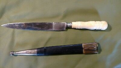old antique bowie, dagger fighting knife