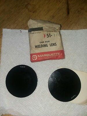 Vintage New Old Stock, Marquette Welding Goggle Lenses