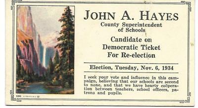 Vintage Local School Board Election Ink Blotter (1934)