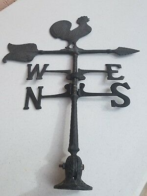Vintage Old Rooster Aluminum Weather Vane