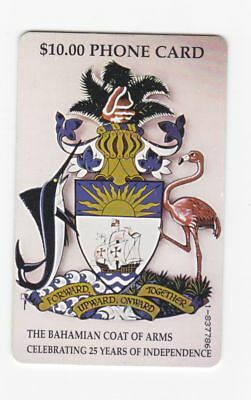 Bahamas used phone card $10 The Bahamian Coat of Arms