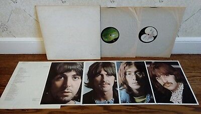 The Beatles White Album vinyl embossed raised numbered poster & photos 2LPs