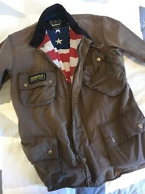Barbour International Steve McQueen Authentic Waxed Cotton Motorcycle Jacket XL