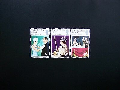 Turks & Caicos Islands Stamps 1977 Year Complete Set, Scott # 321-323. Mlh