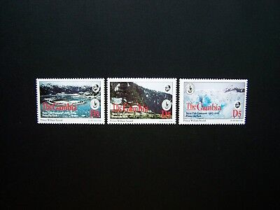 CIERRA CLUB GAMBIA STAMPS 1994 YEAR COMPLETE SET, SCOTT # 1534a-1536a. MNH