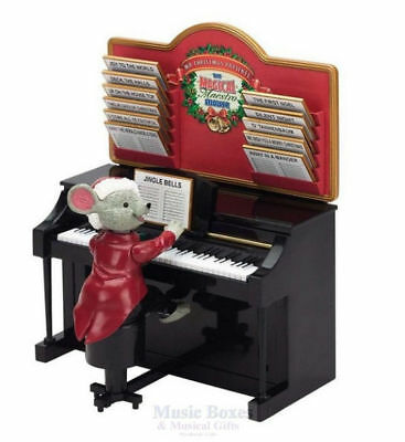 Mr Christmas Maestro Mouse Decor - Magically Plays  Piano NEW  Free  Shipping US