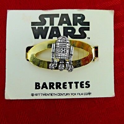 Vintage Star WarsR2-D2 Hair Barrette 1977 Carded New Old Stock Scarce