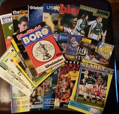 32 x FA Cup programmes 1977 - 2016 (all listed)