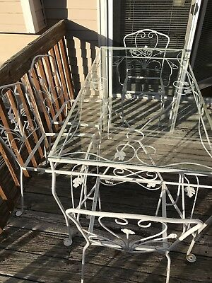 vintage wrought iron patio set