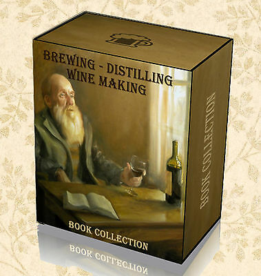 Brewing Beer Wine Making Rare Books on DVD Distilling Whisky Vodka Home Kit B4