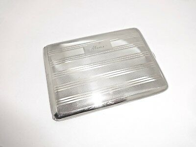 Rare Ronson Sterling Silver Cigarette,i.d.,business Credit Card Holder Case,mimi