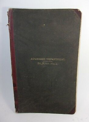 1890's Antique Business Ledger Accounting Records Book