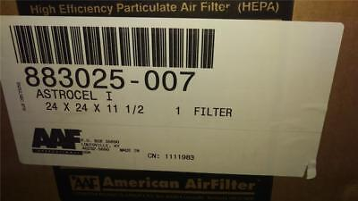 New AAF Astrocel 1 NUCLEAR GRADE Clean Room HEPA Air Filter 24x24x11.5 1000CFM