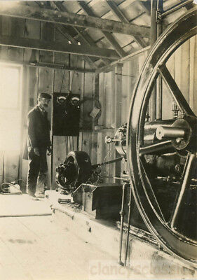 1904 Standard Mine Grant County Quartzburg Oregon Man w Generator