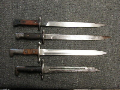 Lot Of 4 Original Bayo'S-Indian Enfield, Swiss Schmidt Rubin, Us M1 Garand