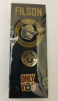 Filson Smokey Bear Enamel 3 Pin Set New Sealed