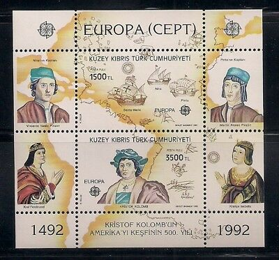 Turkish N. Cyprus 1992 Sc #326 Columbus s/s (40872)