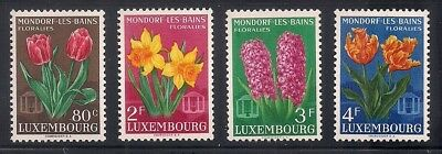 Luxembourg 1955 Sc #300-03 Fl;owers MNH (41771)