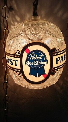 Vintage Rare Pabst Blue Ribbon Hanging Globe Light COOL GREAT GIFT