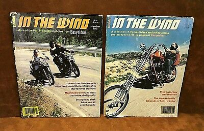 EASYRIDERS ~ IN THE WIND Motorcycle Magazines ~ Issues # 1 & # 2 ~ FREE SHIPPING